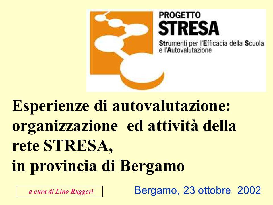 Bergamo, 23 ottobre 2002 Esperienze di autovalutazione: organizzazione ed attività della rete STRESA, in provincia di Bergamo a cura di Lino Ruggeri