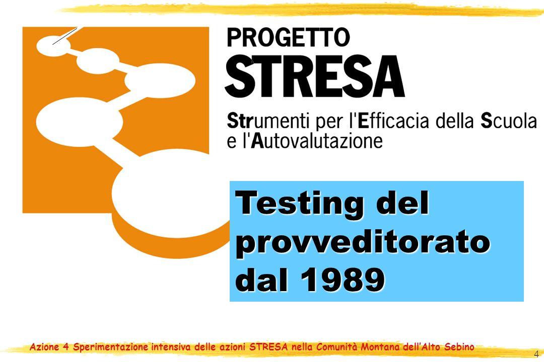 4 Testing del provveditorato Testing del provveditorato dal 1989 dal 1989