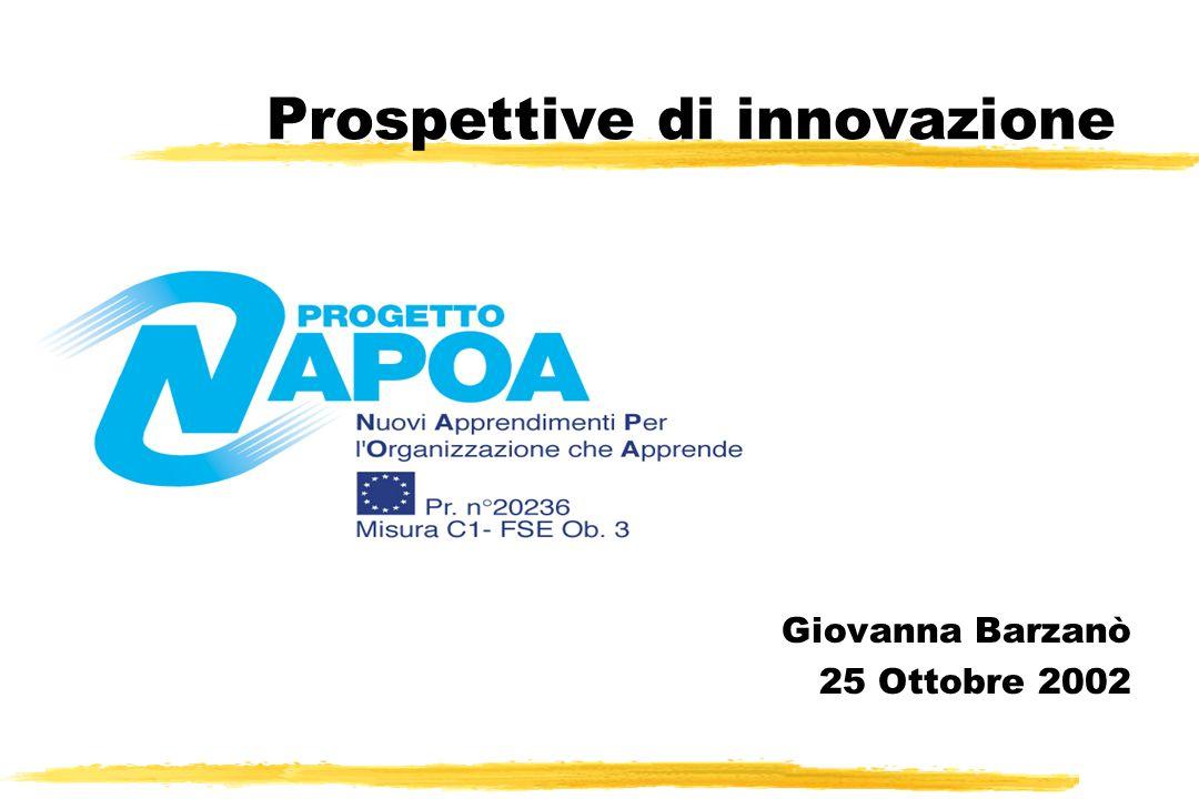 Prospettive di innovazione Giovanna Barzanò 25 Ottobre 2002