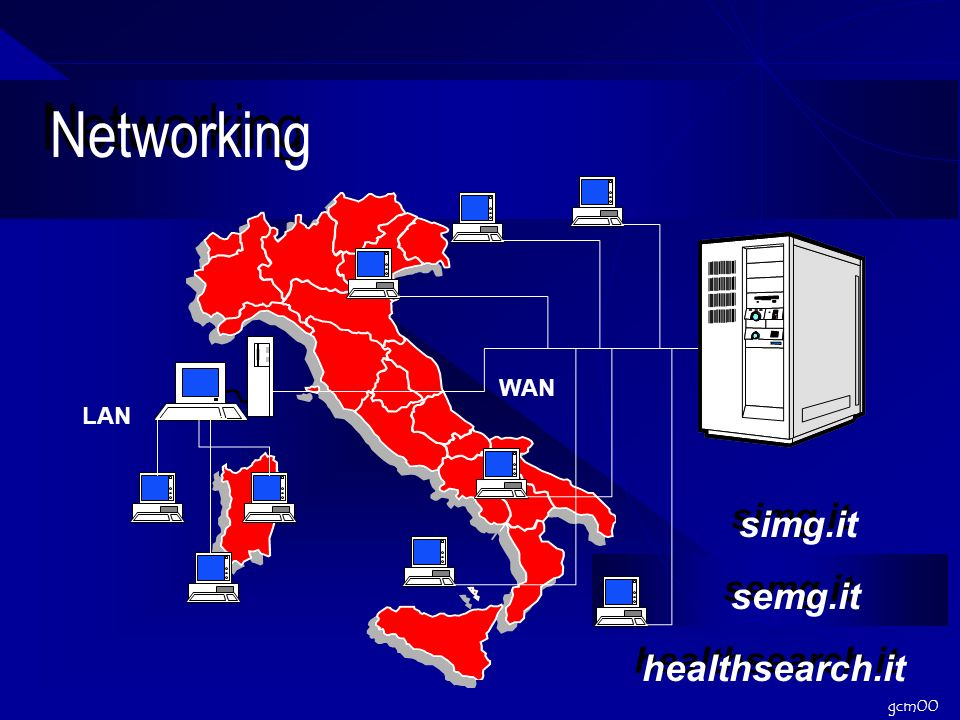 gcm00 Networking LAN WAN simg.it semg.it healthsearch.it