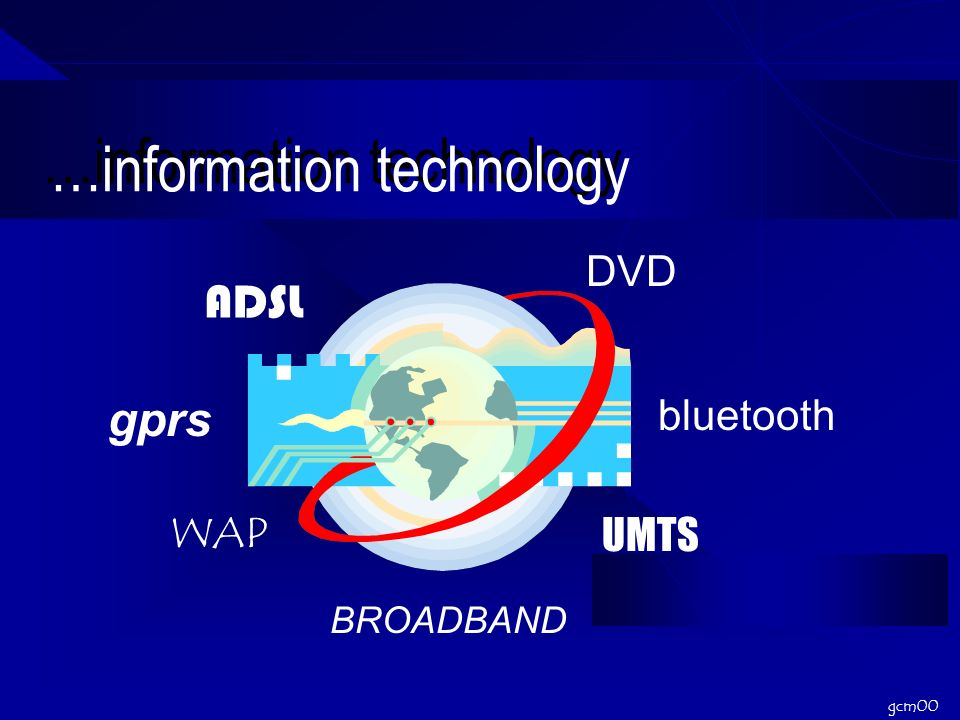 gcm00 …information technology ADSL WAP DVD UMTS BROADBAND bluetooth gprs