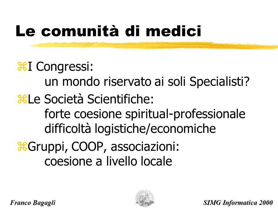 Le comunità di medici zI Congressi: un mondo riservato ai soli Specialisti.