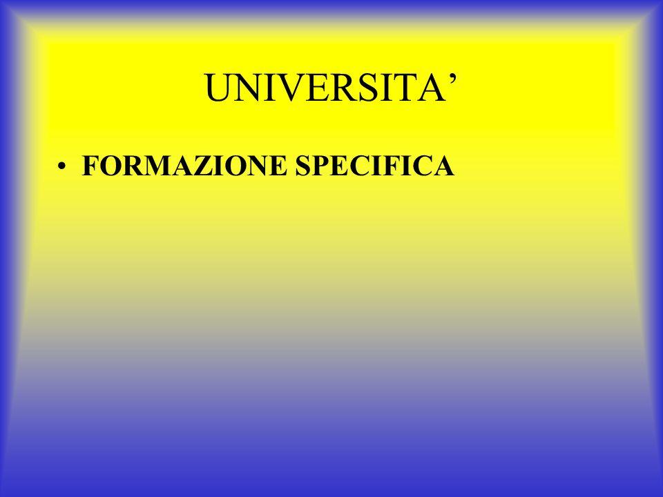 UNIVERSITA FORMAZIONE DI BASE INSERIMENTO MMG INSEGNAMENTO DI BASE DIPARTIMENTO MG