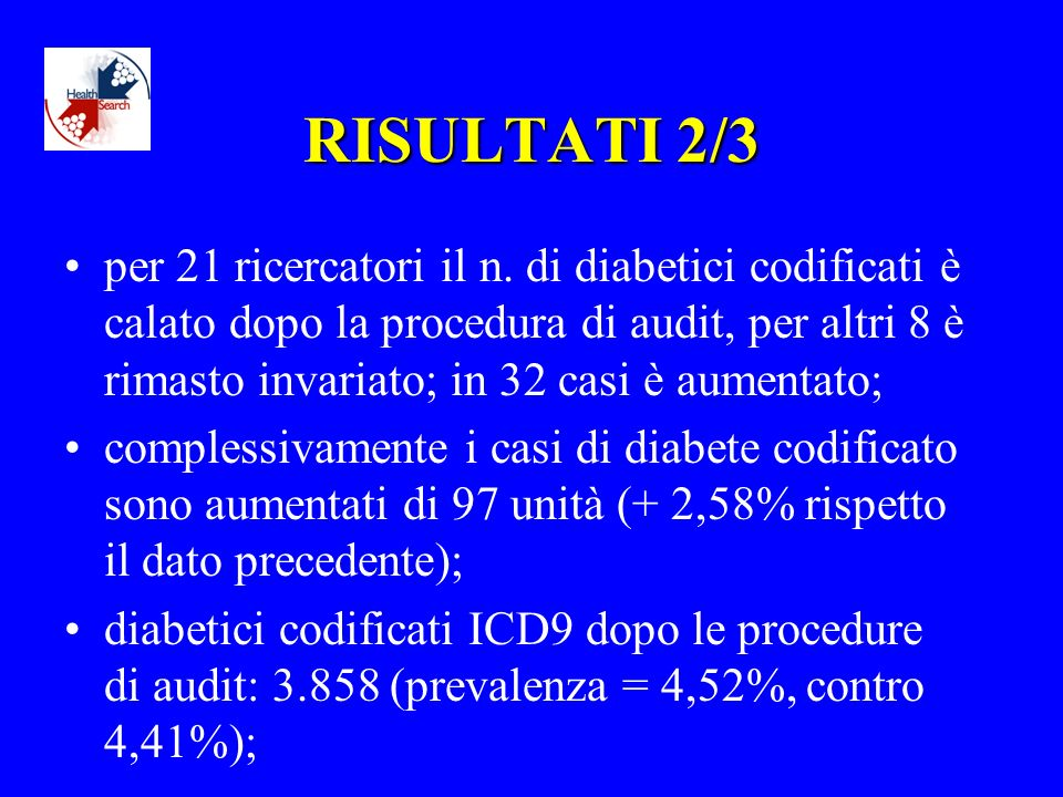 RISULTATI 2/3 per 21 ricercatori il n.