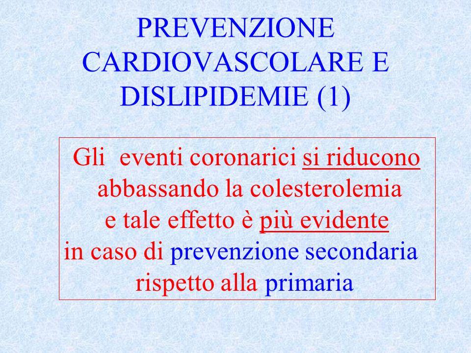 Riduzione media del colesterolo LDL con le statine *dividere x 100 la dose della cerivastatina