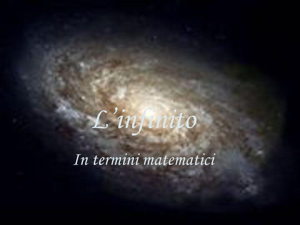Linfinito In termini matematici