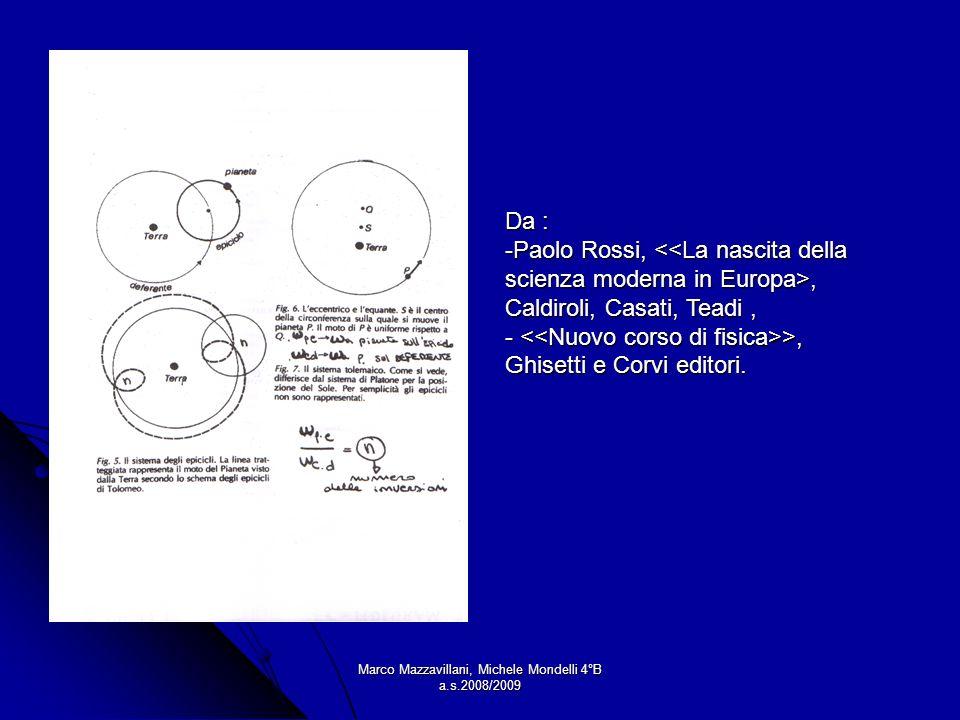 Marco Mazzavillani, Michele Mondelli 4°B a.s.2008/2009 Da : -Paolo Rossi,, Caldiroli, Casati, Teadi, - >, Ghisetti e Corvi editori.