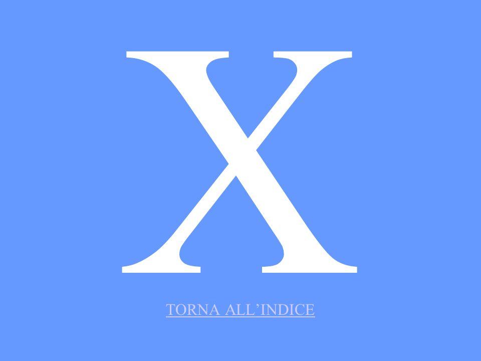 X TORNA ALLINDICE