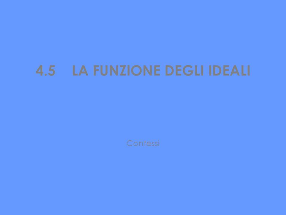 4.5 LA FUNZIONE DEGLI IDEALI Contessi