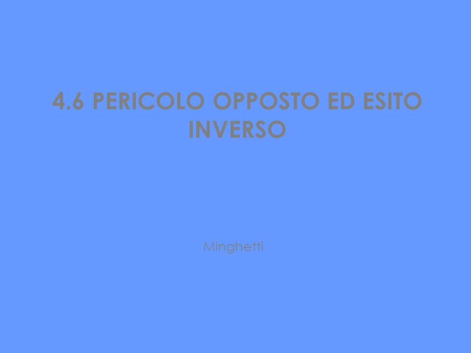 4.6 PERICOLO OPPOSTO ED ESITO INVERSO Minghetti