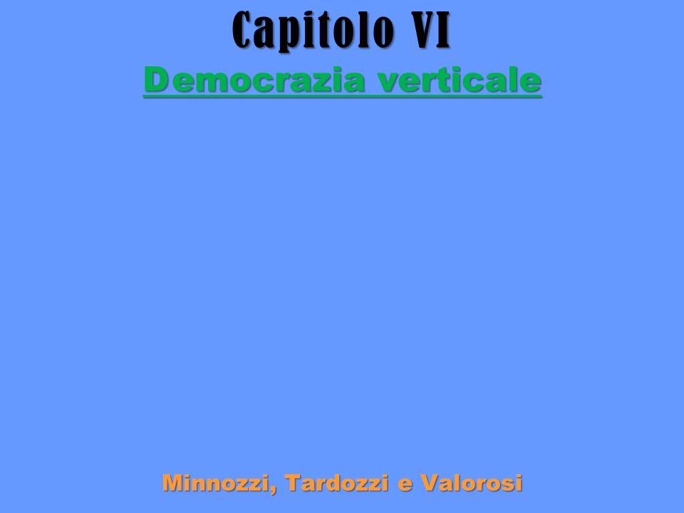 Capitolo VI Democrazia verticale Minnozzi, Tardozzi e Valorosi