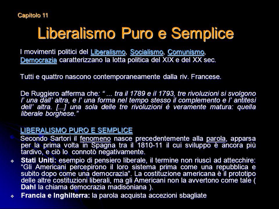 Liberalismo Puro e Semplice I movimenti politici del Liberalismo, Socialismo, Comunismo, I movimenti politici del Liberalismo, Socialismo, Comunismo,