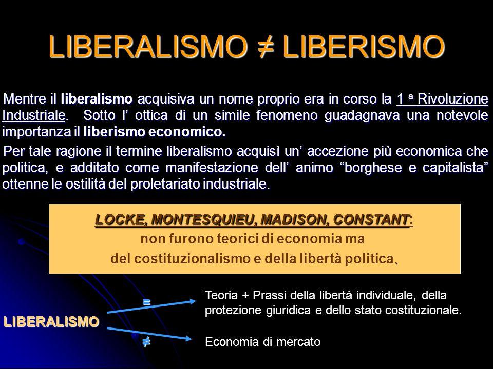 LIBERALISMO LIBERISMO Mentre il liberalismo acquisiva un nome proprio era in corso la 1 a Rivoluzione Industriale. Sotto l ottica di un simile fenomen