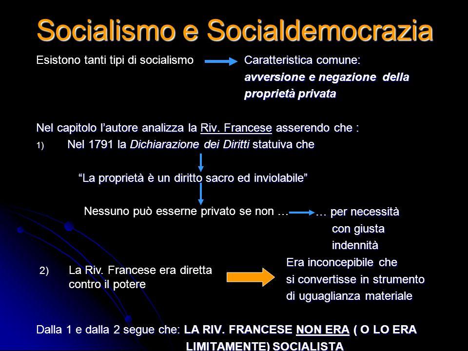 Socialismo e Socialdemocrazia Caratteristica comune: Caratteristica comune: avversione e negazione della avversione e negazione della proprietà privat