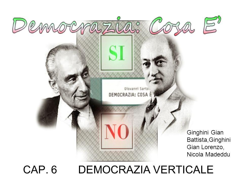 CAP. 6 DEMOCRAZIA VERTICALE Ginghini Gian Battista,Ginghini Gian Lorenzo, Nicola Madeddu