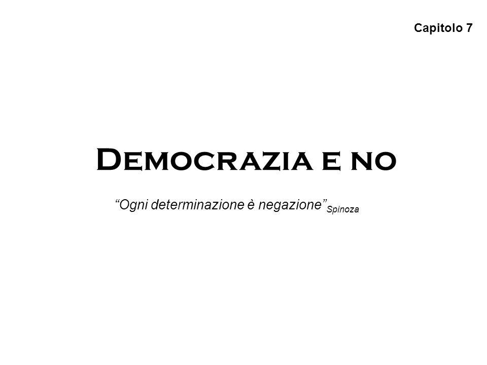 Democrazia e no Capitolo 7 Ogni determinazione è negazione Spinoza