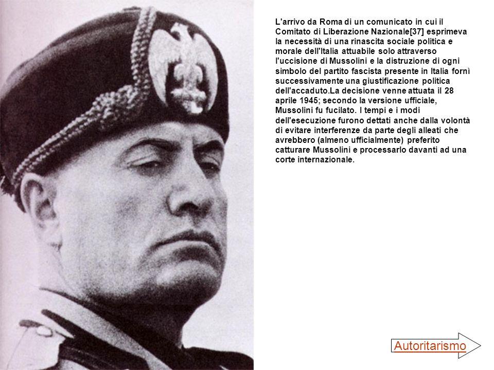 L'arrivo da Roma di un comunicato in cui il Comitato di Liberazione Nazionale[37] esprimeva la necessità di una rinascita sociale politica e morale de