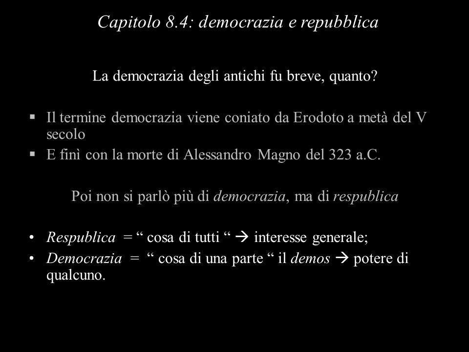 La democrazia degli antichi fu breve, quanto? Il termine democrazia viene coniato da Erodoto a metà del V secolo E finì con la morte di Alessandro Mag
