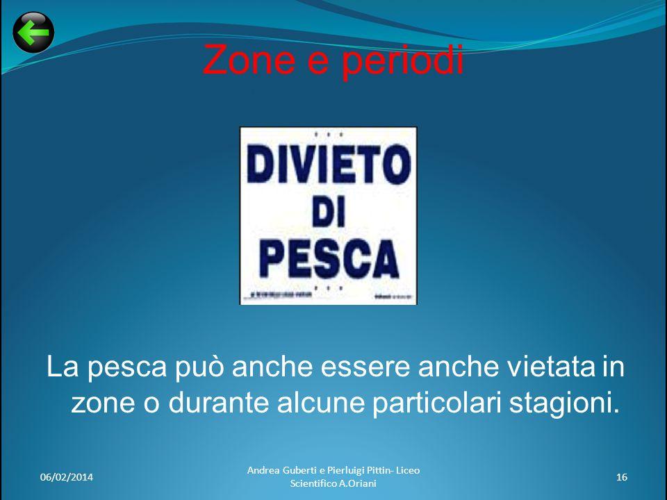 06/02/2014 Andrea Guberti e Pierluigi Pittin- Liceo Scientifico A.Oriani 16 Zone e periodi La pesca può anche essere anche vietata in zone o durante a