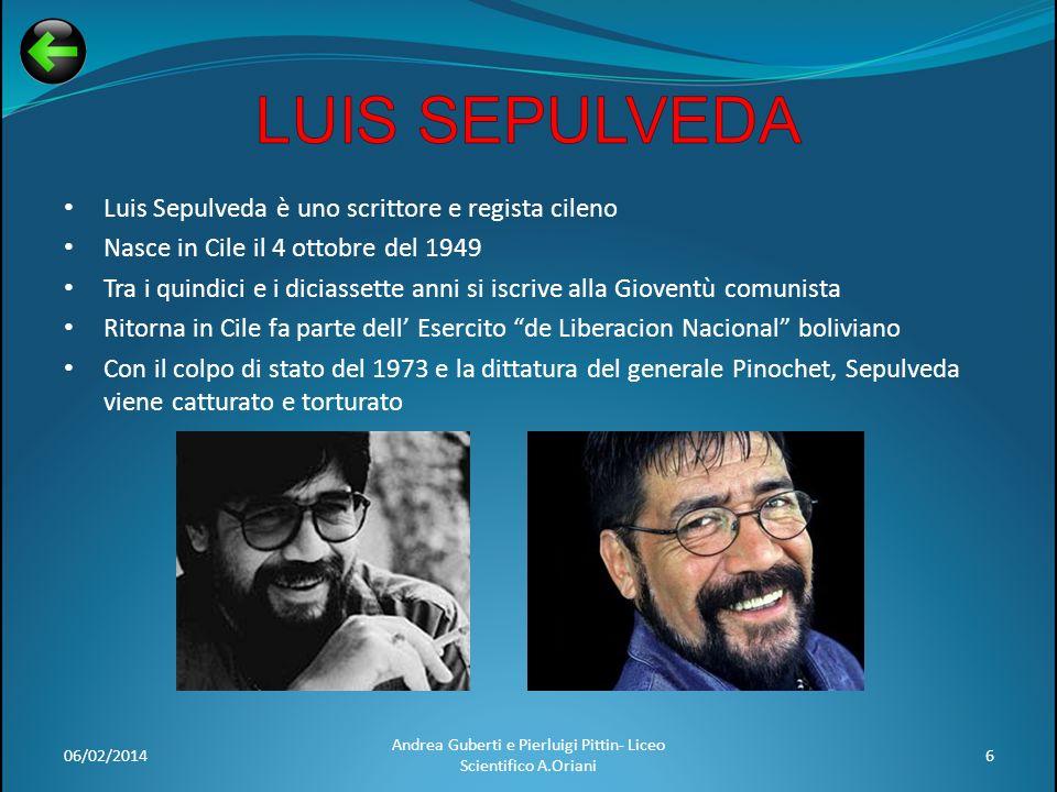 Luis Sepulveda è uno scrittore e regista cileno Nasce in Cile il 4 ottobre del 1949 Tra i quindici e i diciassette anni si iscrive alla Gioventù comun