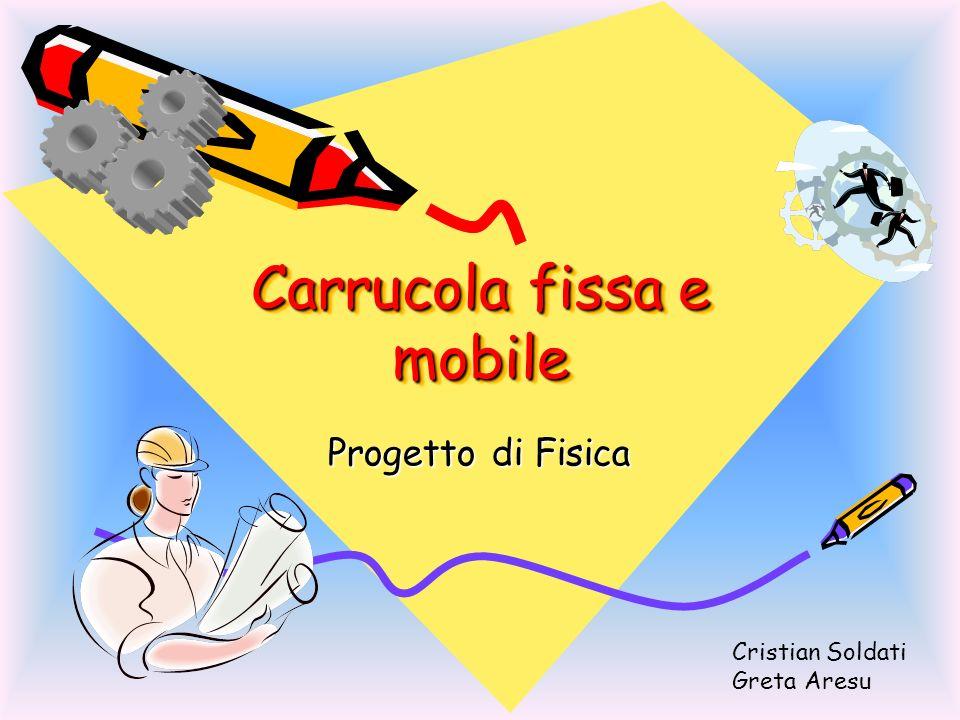 Carrucola fissa e mobile Progetto di Fisica Cristian Soldati Greta Aresu