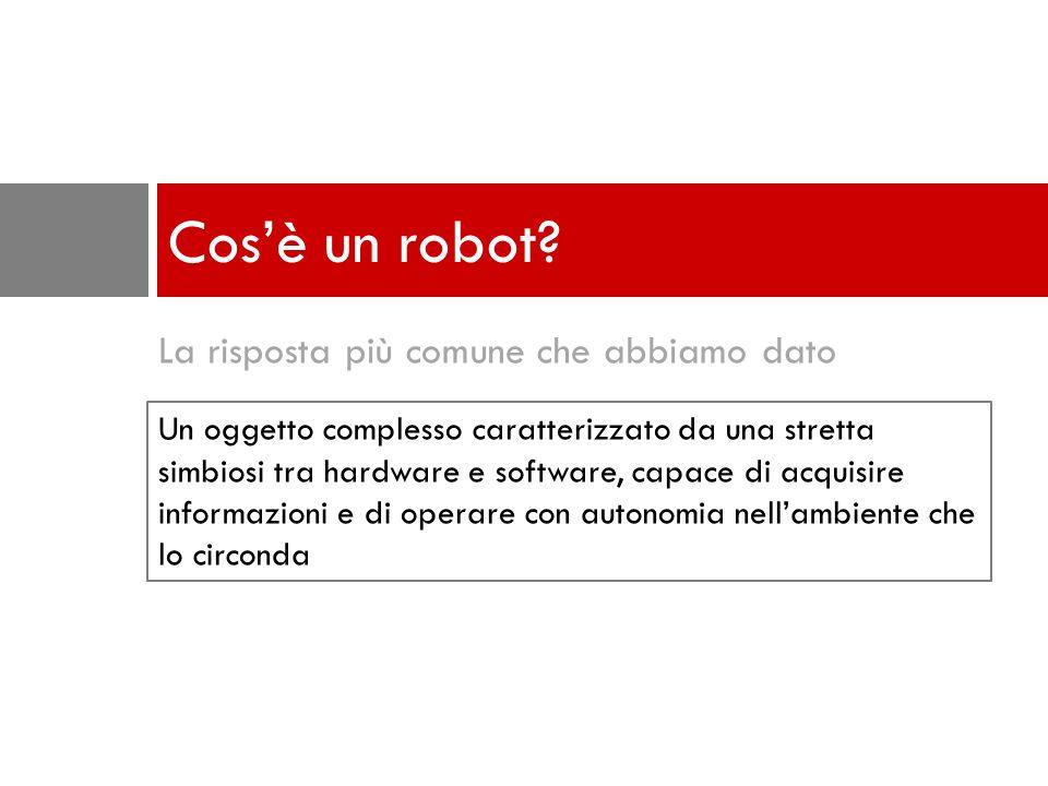 La risposta più comune che abbiamo dato Cosè un robot.