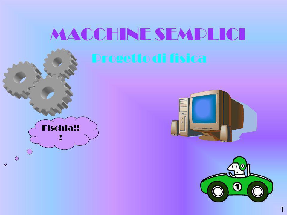 MACCHINE SEMPLICI Progetto di fisica Fischia!! ! 1