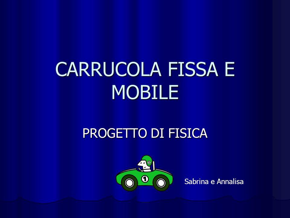 CARRUCOLA FISSA E MOBILE PROGETTO DI FISICA Sabrina e Annalisa
