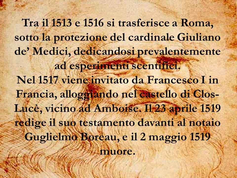 Tra il 1513 e 1516 si trasferisce a Roma, sotto la protezione del cardinale Giuliano de Medici, dedicandosi prevalentemente ad esperimenti scentifici.