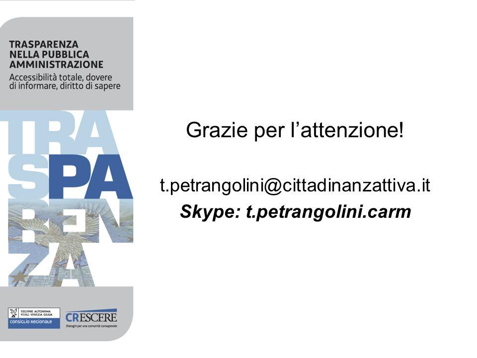 Grazie per lattenzione! t.petrangolini@cittadinanzattiva.it Skype: t.petrangolini.carm