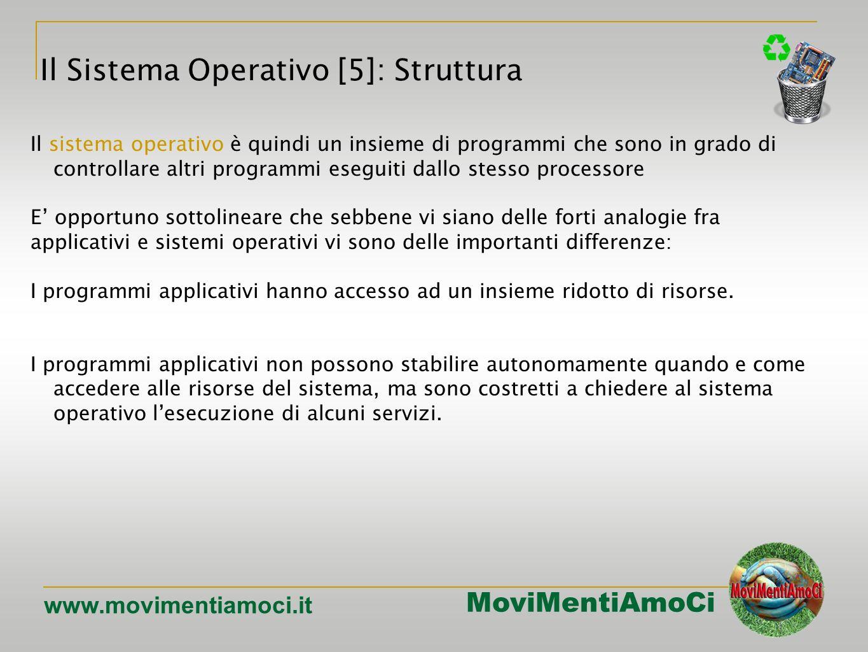 MoviMentiAmoCi www.movimentiamoci.it Icone Pulsanti Aree di testo Altri controlli (liste, combo-box, …) I sistemi operativi della famiglia Windows [7]: interfaccia