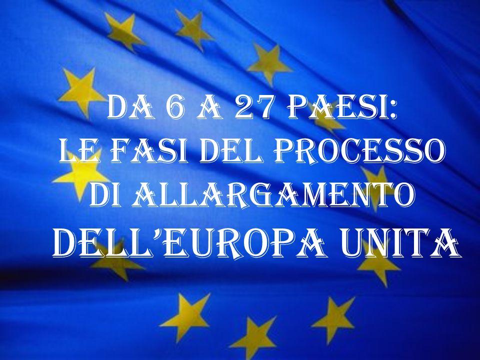 Da 6 a 27 Paesi: le fasi del processo di allargamento dellEuropa unita