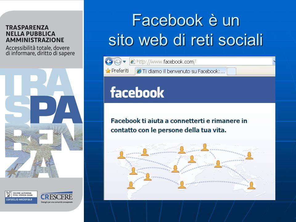 Facebook è un sito web di reti sociali