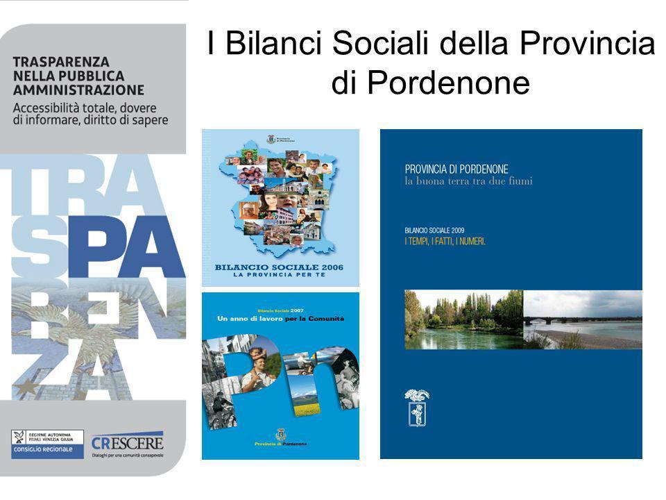 I Bilanci Sociali della Provincia di Pordenone