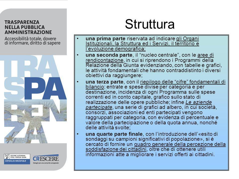 Prima Parte Organi Istituzionali, la Struttura ed i Servizi, il territorio e levoluzione demografica