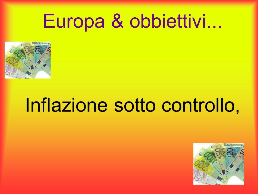 Europa & obbiettivi... Inflazione sotto controllo,