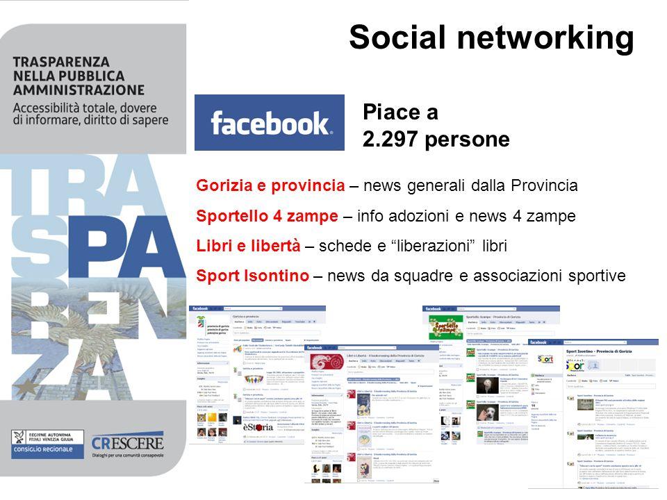 Social networking Piace a 2.297 persone Gorizia e provincia – news generali dalla Provincia Sportello 4 zampe – info adozioni e news 4 zampe Libri e l