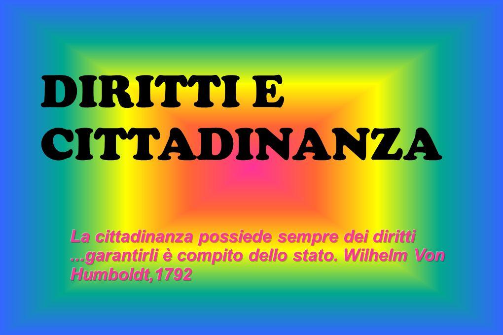 DIRITTI E CITTADINANZA