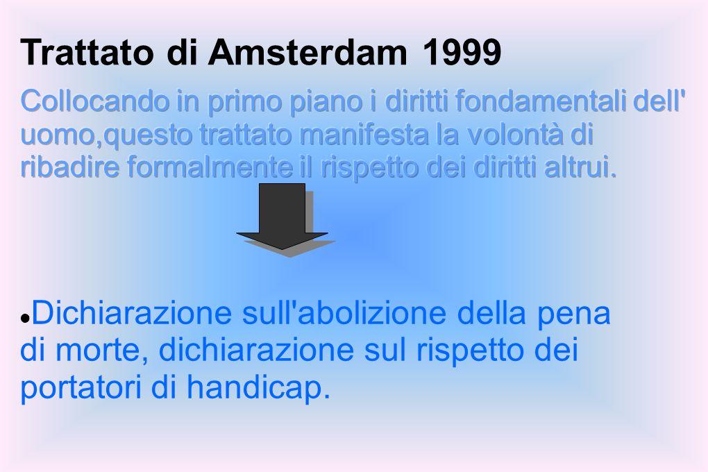 Trattato di Amsterdam 1999