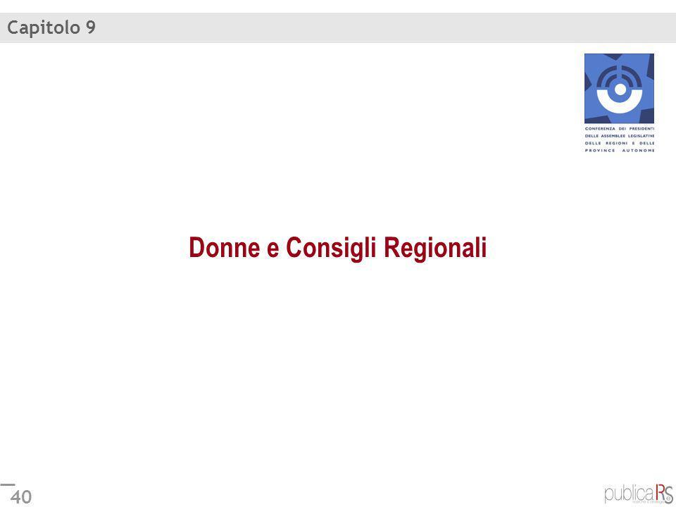 40 Donne e Consigli Regionali Capitolo 9