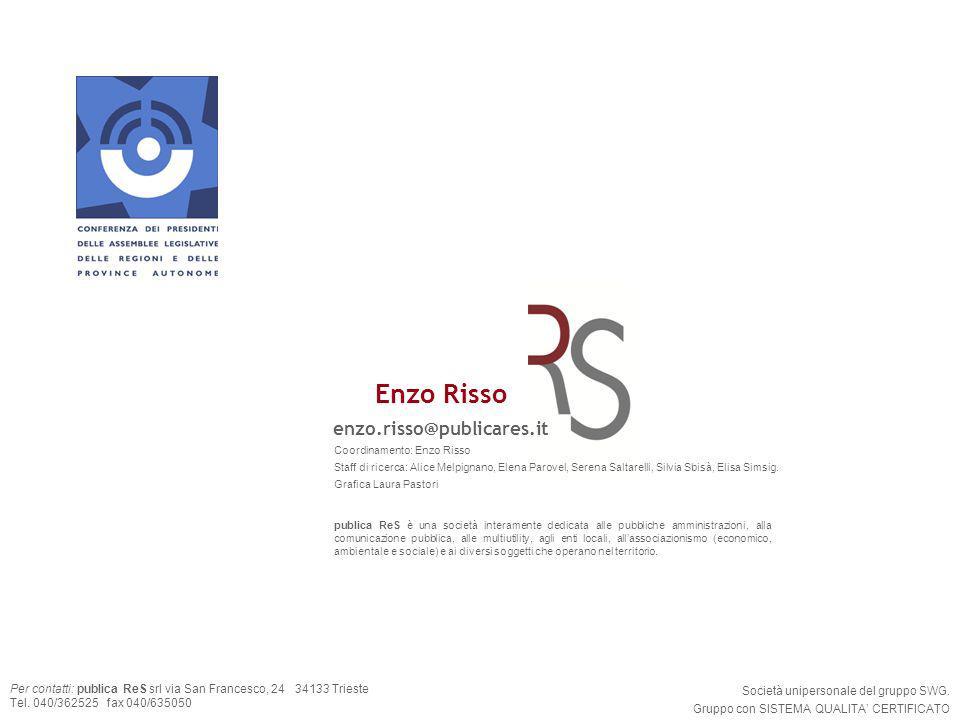 43 Per contatti: publica ReS srl via San Francesco, 24 34133 Trieste Tel. 040/362525 fax 040/635050 Società unipersonale del gruppo SWG. Gruppo con SI