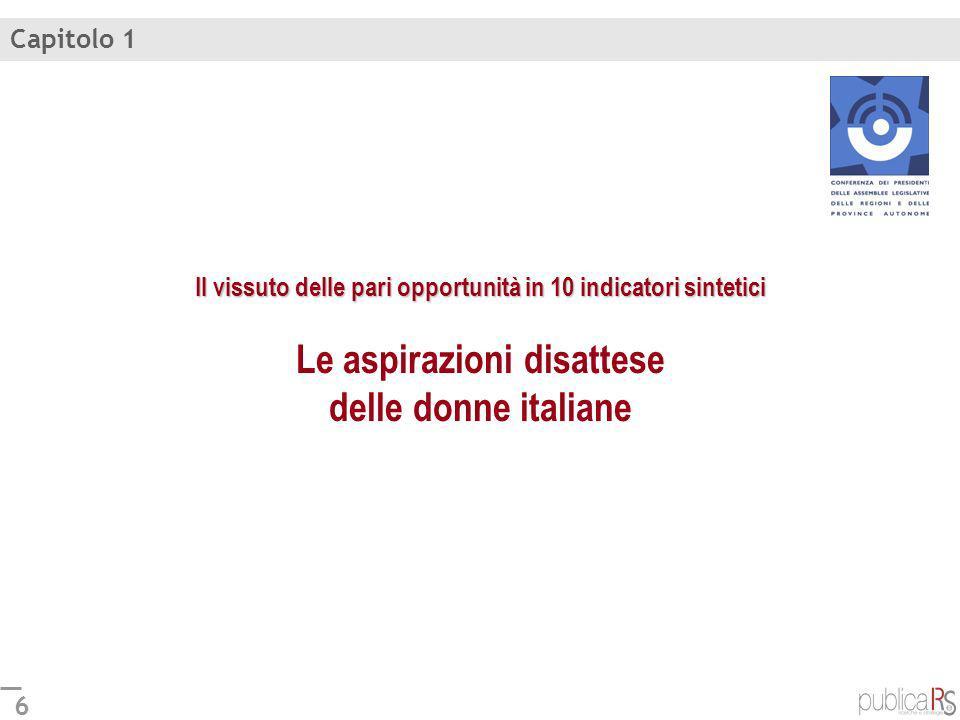 7 Disponibilità di servizi pubblici daiuto nella gestione di famiglia e lavoro Italia: 52 Rispondono solo le donne MAPPA DELLE NECESSITÀ DELLE POLITICHE DI GENERE (Le regioni in cui è maggiore o minore la necessità di politiche di genere.