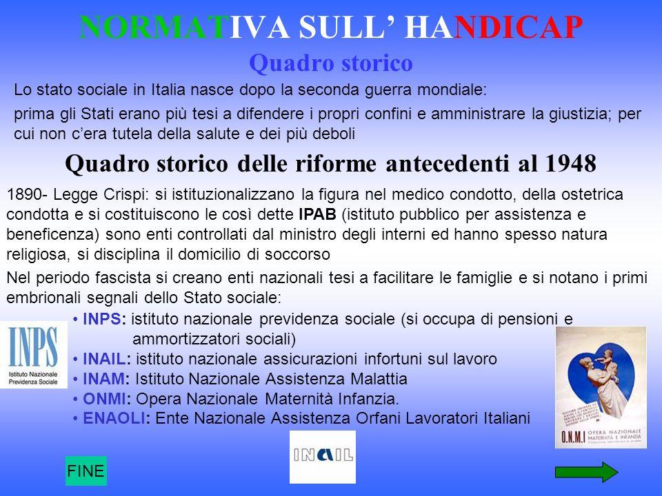 Lo stato sociale in Italia nasce dopo la seconda guerra mondiale: prima gli Stati erano più tesi a difendere i propri confini e amministrare la giusti
