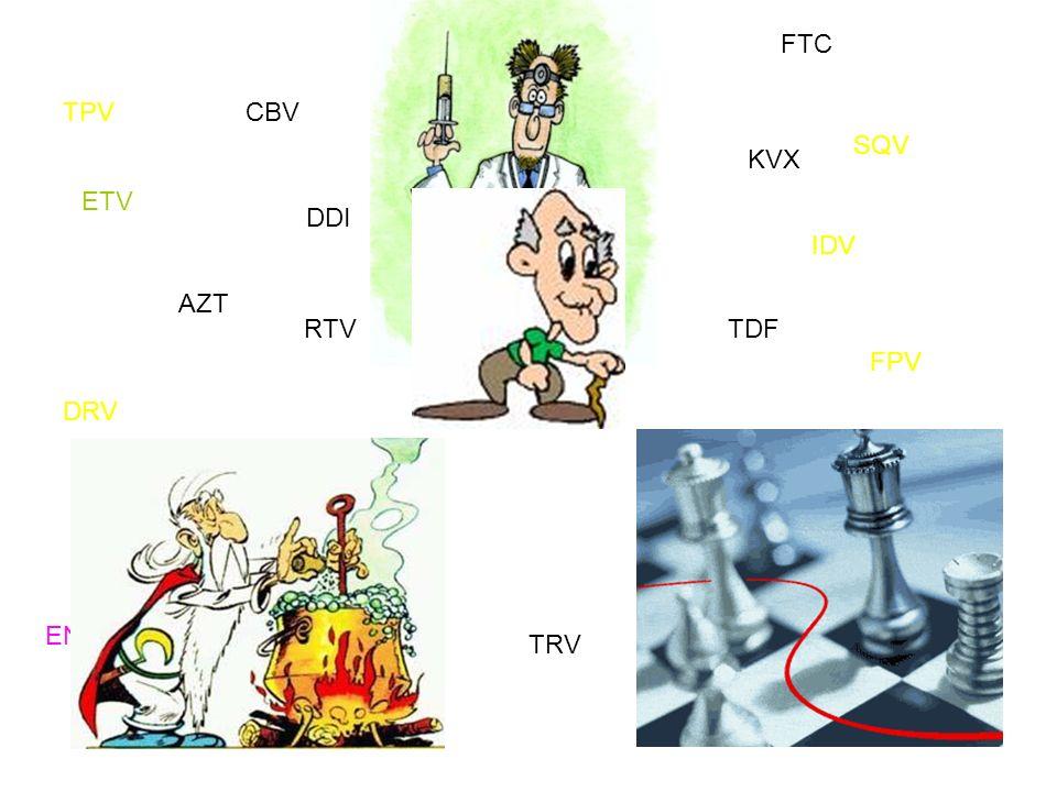 AZT DDI 3TC TDF ABC FTC D4T TRV CBV KVX NVP EFV ETV SQV LPV TPV FPV DRV ATV RTV IDV NFV RAL ENF VCV MVC