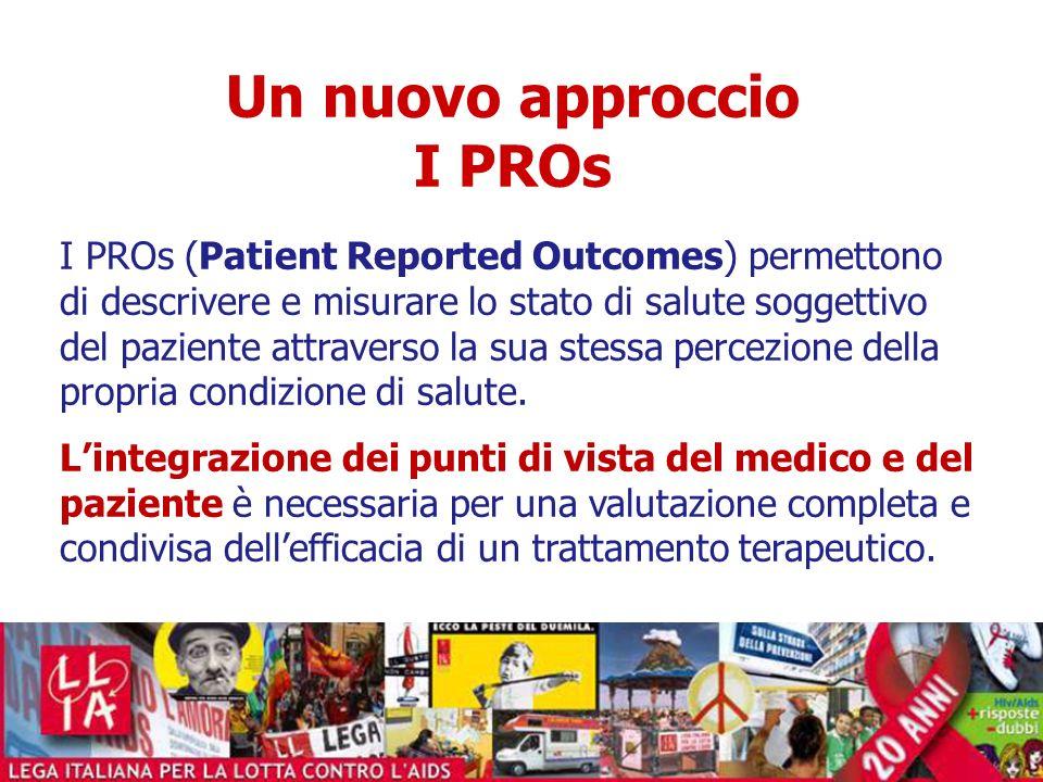 Un nuovo approccio I PROs I PROs (Patient Reported Outcomes) permettono di descrivere e misurare lo stato di salute soggettivo del paziente attraverso