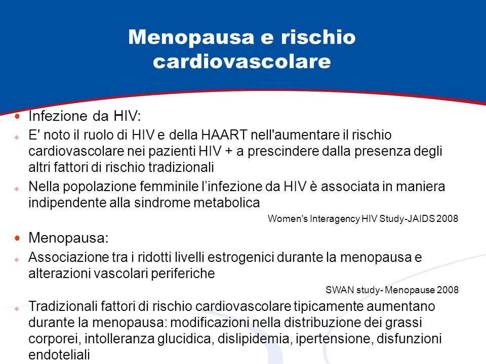 Infezione da HIV: E' noto il ruolo di HIV e della HAART nell'aumentare il rischio cardiovascolare nei pazienti HIV + a prescindere dalla presenza degl
