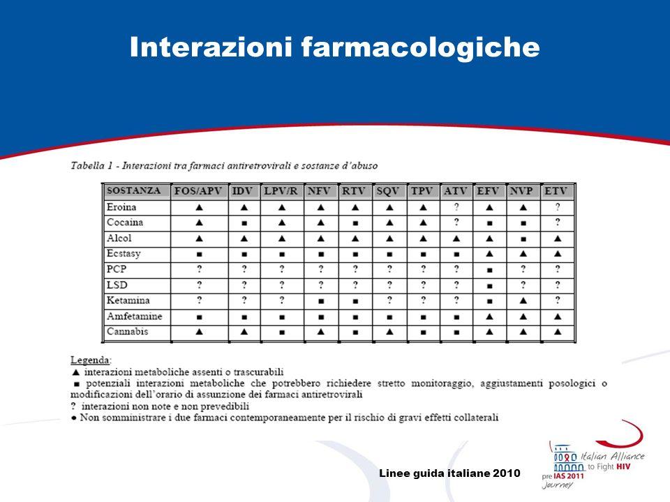 Interazioni farmacologiche Linee guida italiane 2010