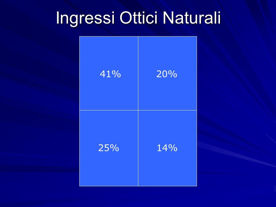 Ingressi Ottici Naturali 41%20% 25%14%