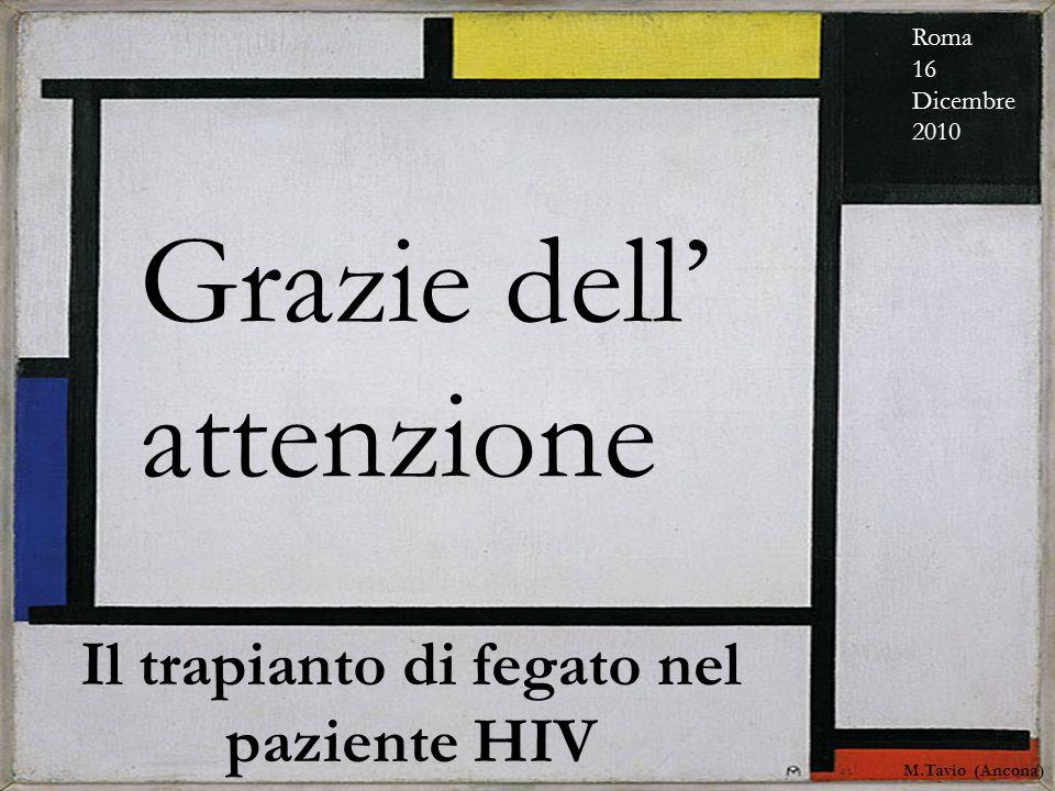 COINFEZIONE HIV-HCV: nuovi farmaci e nuove prospettive. M. Tavio - Malattie Infettive - Ancona Pesaro 12 novembre 2010 Grazie dell attenzione Il trapi