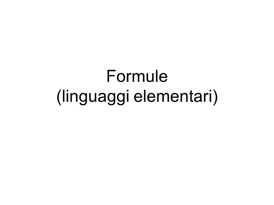 Formule (linguaggi elementari)